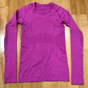 Lululemon Run: Swiftly Tech Long Sleeve, Pink, 4